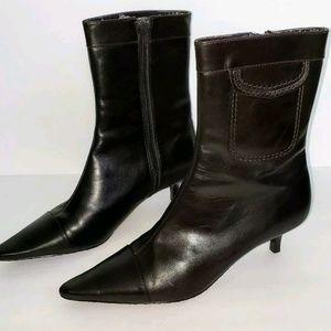 Calvin Klein Fawna Kitten Heel Ankle Boots